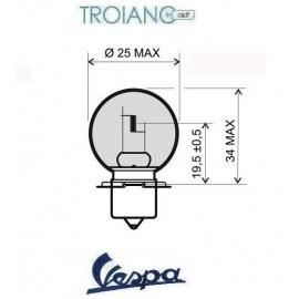 Lampadina Vespa 45/40W Asimmetrica Bianco