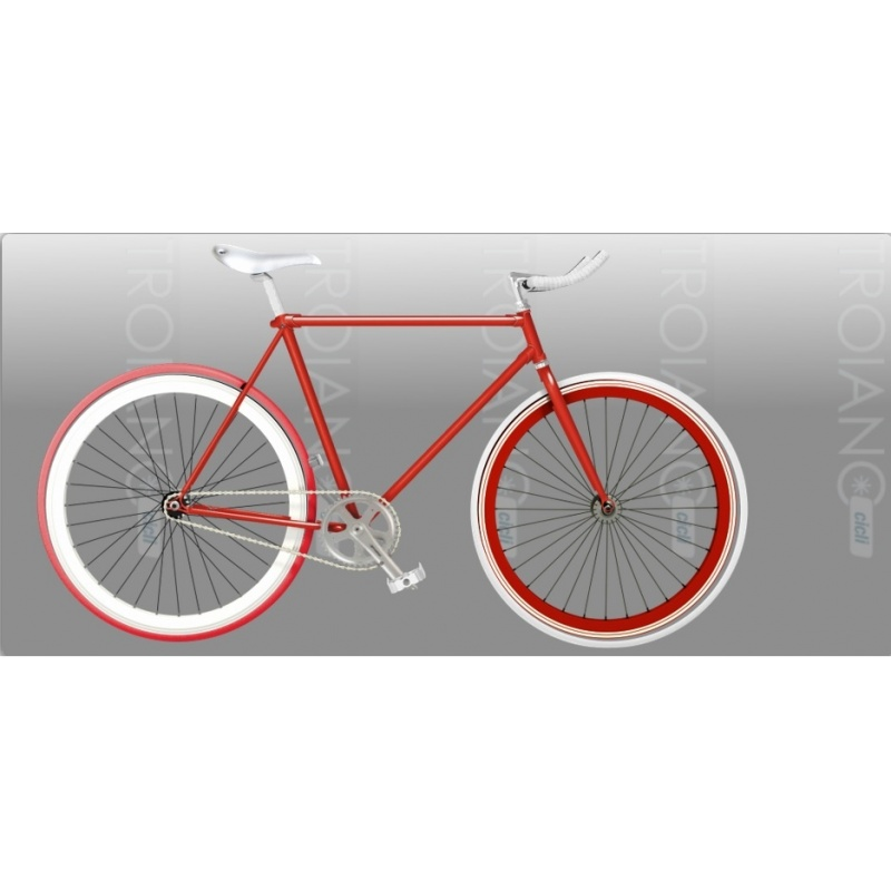 Bicicletta Fixed Red Passion