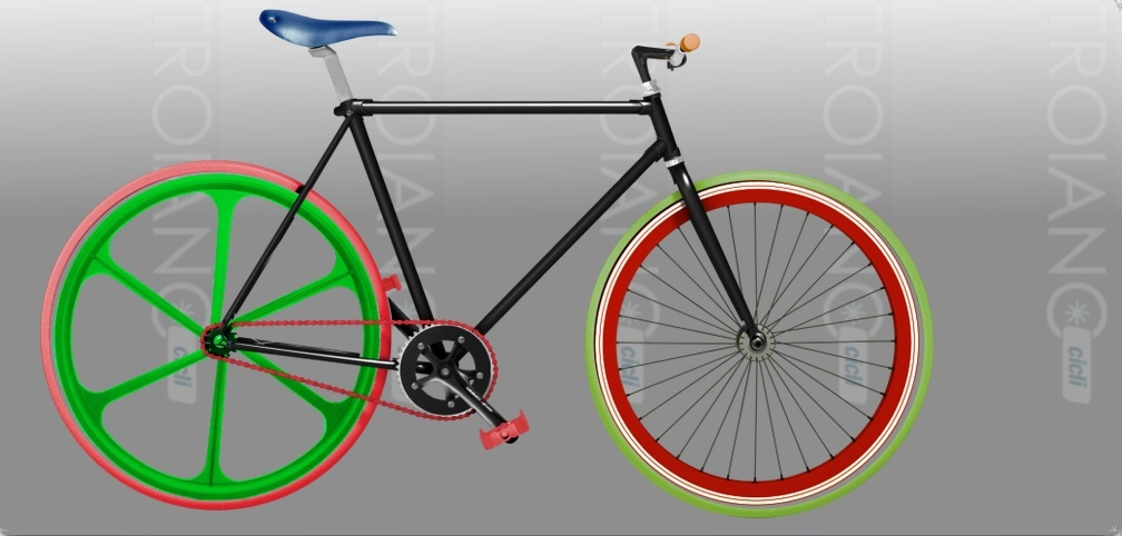 Bicicletta Single Speed All Color